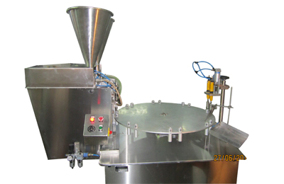 Rotary-Semi-Auto-Viscous-Paste-Filling-&-Cap-Sealing-Machines