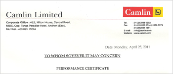 Performance-Certificate