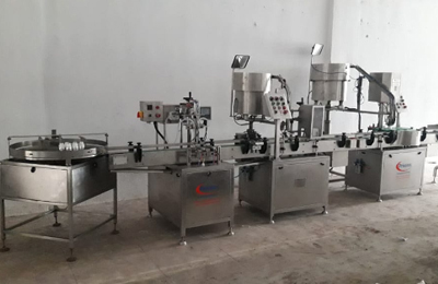 Bottling Line for Free Flow Liquid - Digital Pump Filler