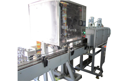 Automatic Shrink Sleeve Applicator with Shrink Tunnel
